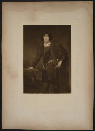 Sir Henry Irving (1838-1905) as 'Hamlet' in Willilam Shakespeare's 'Hamlet'