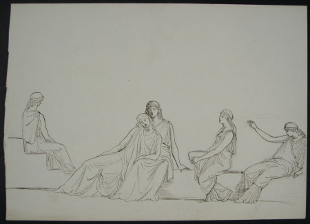 Studies for Female Costumes for 'Helena in Troas' a drama by John Todhunter