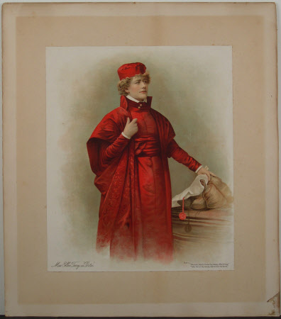 Dame Ellen Terry (1847-1928) as 'Portia' from William Shakespeare's 'Merchant of Venice'