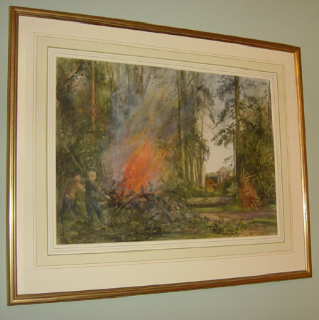 Bonfire in the Gardens of Blickling Hall, Norfolk