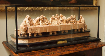 A Carved Tableau of The Last Supper (after Leonardo)