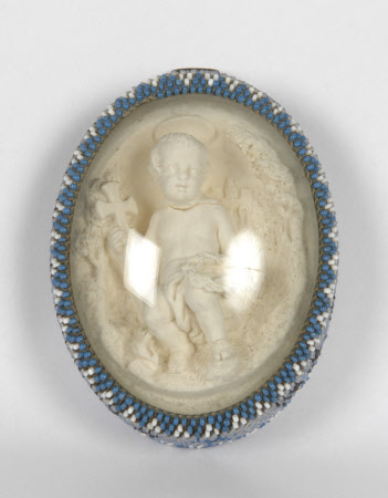Oval Plaster relief: St John the Baptist