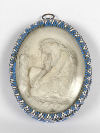 Oval Plaster relief: Mary Magdalene