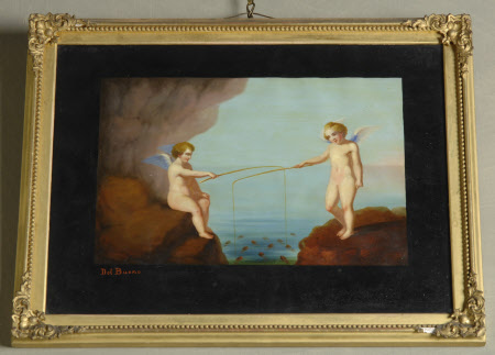 Two Putti Fishing