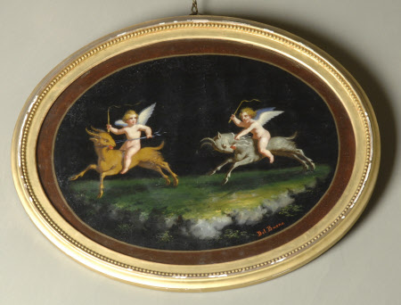 Pompeian-style Putti riding Rams