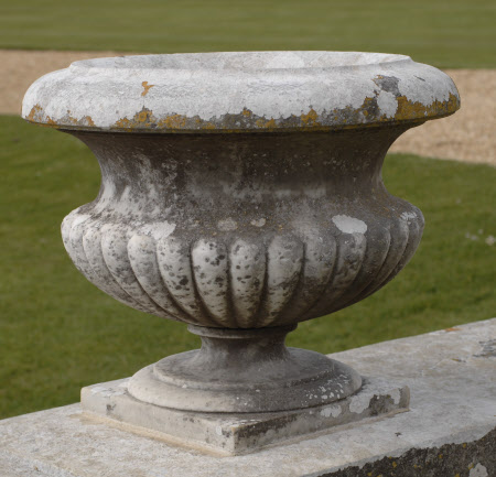 One of a set of nineteen Marble Garden Urns