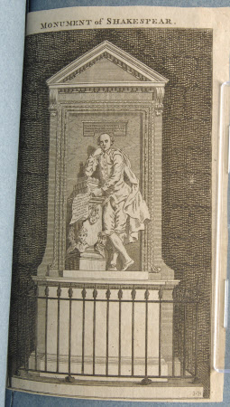 The Monument to William Shakespeare, by Peter Scheemakers, Westminster Abbey, London