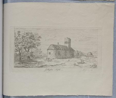 St Mary's Church, Gillingham, Norfolk (after Jan Van Goyen)