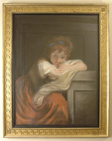 Girl leaning on a Pedestal (after Reynolds)