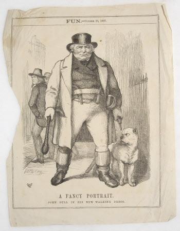 'A Fancy Portrait - John Bull in His New Walking Dress' - Benjamin Disraeli, 1st Earl of ...