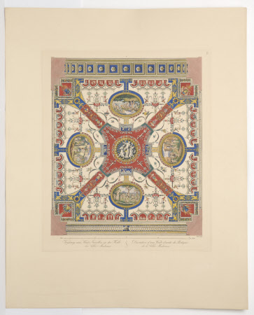 Plate 9.Ceiling of the north-east Vault of the Loggia of the Villa Madama, Rome (after Giovanni da ...