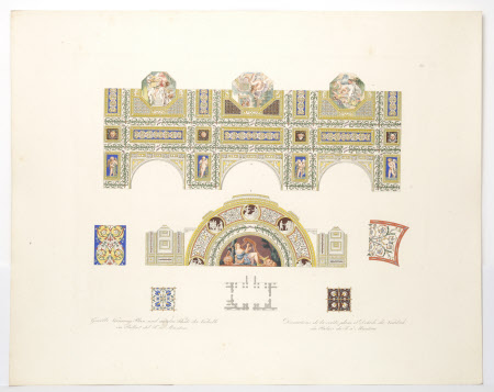 """Plate 22. Ceiling and Lunette of """"David the Psalmist"""" from the Garden Loggia of the Palazzo del Te, ..."""