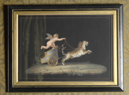 Cupid in a Chariot drawn by Tigers