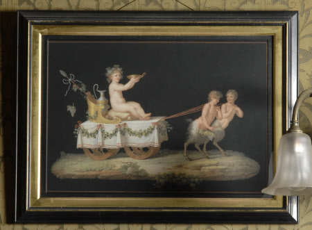 Infant Bacchus on a Chariot drawn by Child Satyrs