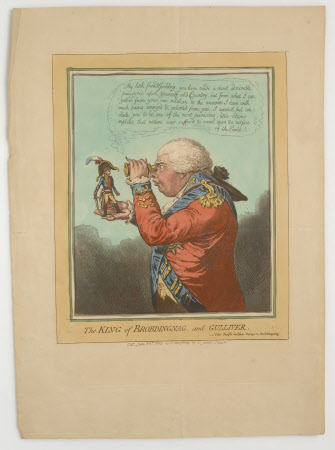 The King of Brobdingnag and Gulliver (King George III (1738–1820) and Arthur Wellesley, 1st Duke of ...