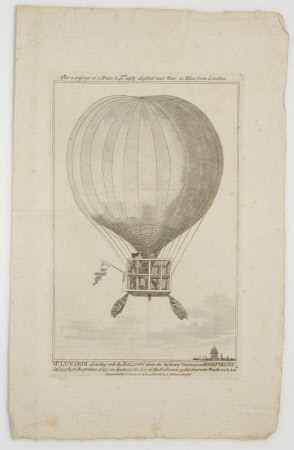Mr Lunardi ascending with the Balloon from the Artillary Ground in Moorfields Sep.15 1784.