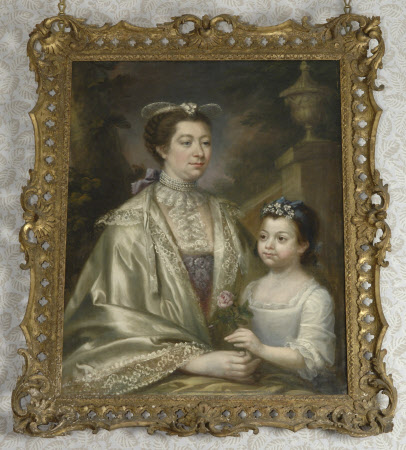 Margaret Wynne, Mrs Henry I Bankes (1724-1822) and her daughter Anne Bankes (1759-1778), as a child