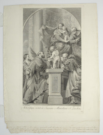 The Holy Family with the Infant John the Baptist and Saints Justina, Francis and Jerome (after ...