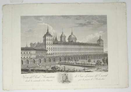 View of the Royal Monastery of San Lorenzo, El Escorial (after Jose Gomez Navia)