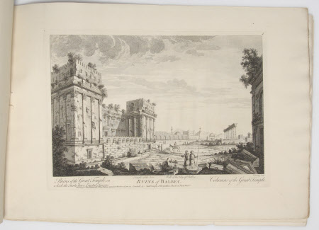 Ruins of Balbec with Ruins of the Great Temple on which the Turks have erected Towers Columns of ...