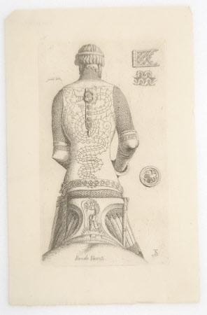 Bernabò Visconti, Lord of Milan (1354 -1385) An equestrian statue of Bernabo Visconti, seen from ...