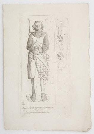 Effigy of Louis I, Duc de Bourbon, Comte de Clermont-en-Beauvaisis and La Marche (1279-1342) in the ...