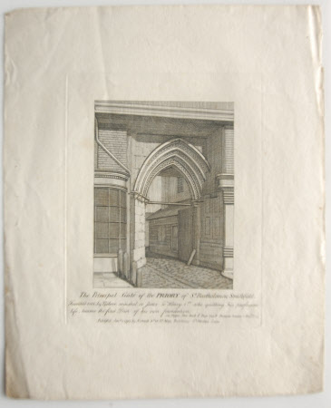 The Principal Gate of the Priory of St. Bartholomew, Smithfield