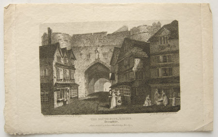 The South Gate, Exeter, Devon (after Edward Dayes)