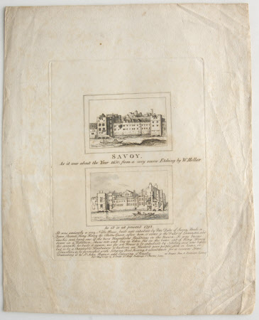 The Savoy As it was about the Year 1650 and As it is at present 1792