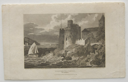 Dartmouth Castle, Devon (after J. C. Smith after Samuel Prout)