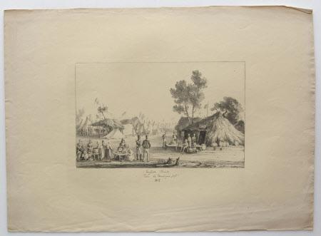 English Troops, Bois de Boulogne, Paris:  September 1815