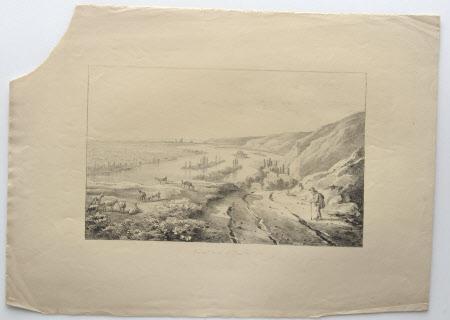 Distant view of Rouen: 1817