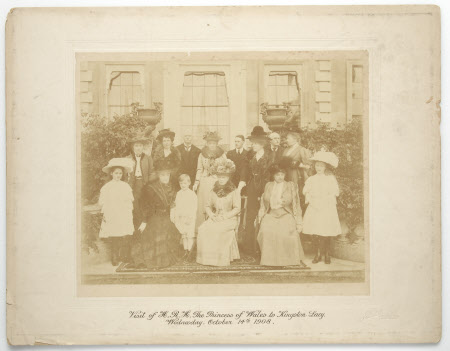 Visit of H.R.H. The Princess of Wales later Queen Mary (1867–1953)  to Kingston Lacy. Wednesday, ...