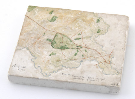 Topographical map of the Kingston Lacy Estate, Dorset