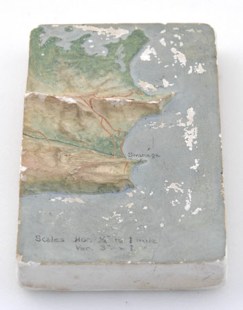 Topographical map of the Purbeck and Studland Estate
