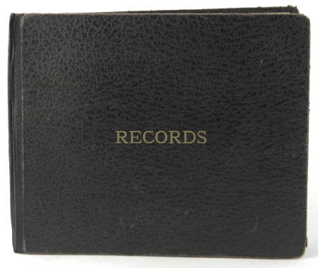 Gramophone record folder