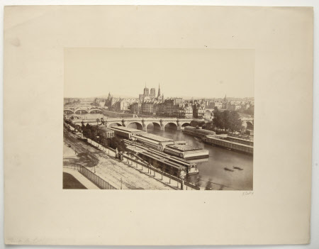 View of Paris from the Right Bank:  c. 1890,