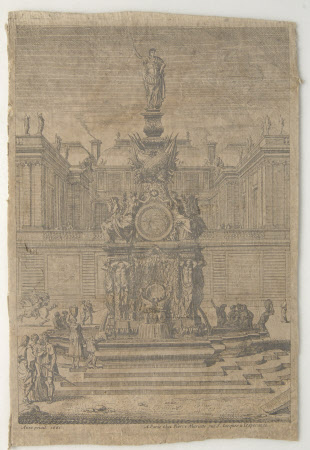 Classical statue and fountain  (after Jean Lepautre)