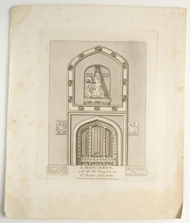 A Monument to Alicia Steward (d.1572) with the Old Vestry Door, St. Mary Le Savoy, London