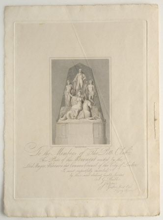 Monument to The Rt. Hon. William Pitt the younger MP (1759-1806) by James Bubb, St Paul's ...