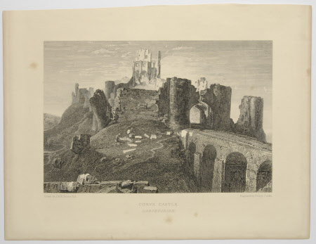 Corfe Castle, Dorset (after Joseph Mallord Turner)