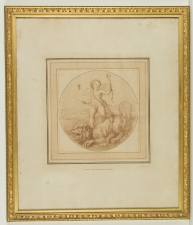 Cupid Standing on a Lion