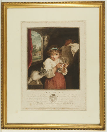 Muscipula or Girl with a Mousetrap (after Sir Joshua Reynolds)