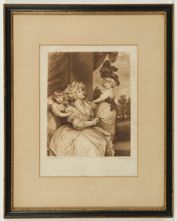 Jane Fleming, Countess of Harrington (1755-1824) with her sons Charles Stanhope, Viscount ...