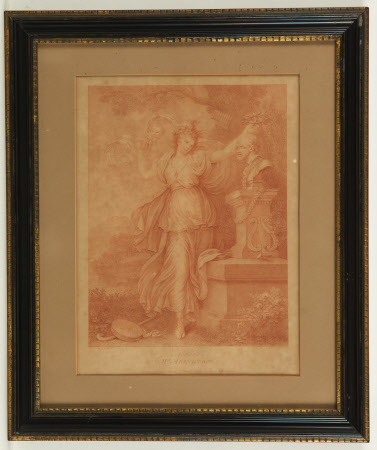 Frances Barton, Mrs Abington (1737-1815) as Thalia (after Richard Cosway)
