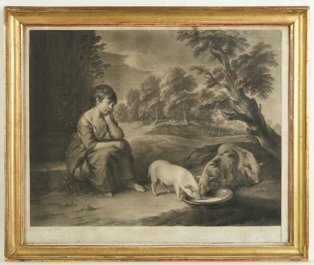 Girl and Pigs (after Thomas Gainsborough)