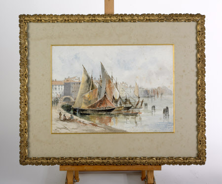 Venetian Scene with Sailing Boats