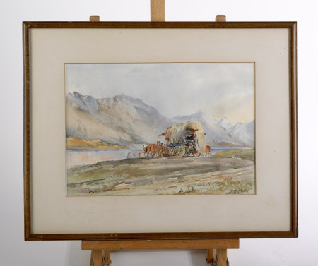 Gipsy Caravan in Mountain Landscape