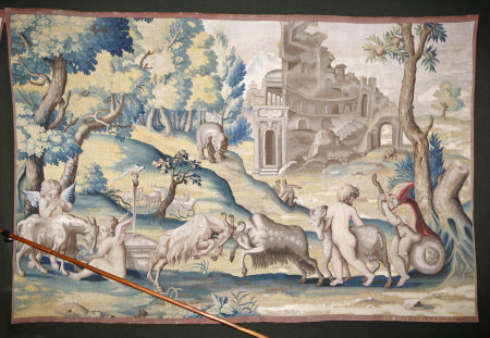 Putti Playing with Goats