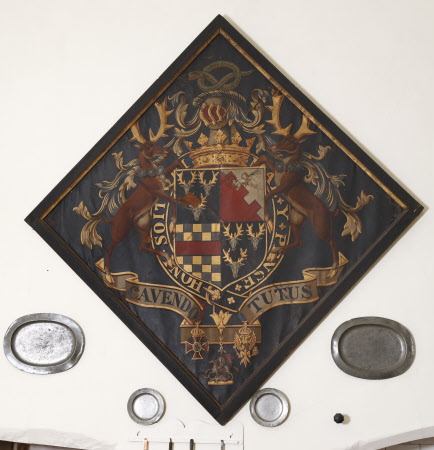 Hatchment of William Spencer Cavendish, 6th Duke of Devonshire (1790-1858)